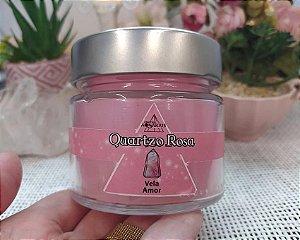 Vela Energética 250g - Quartzo Rosa