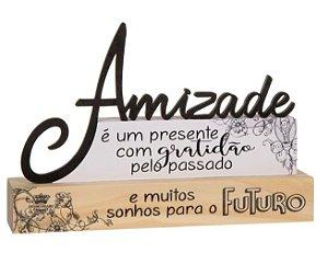 Madeirinha Amizade - É um presente com gratidão ...