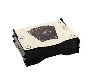Jogo de baralho com caixa MDF