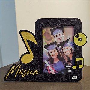 Porta retrato MDF com recortes 10x15 - Música