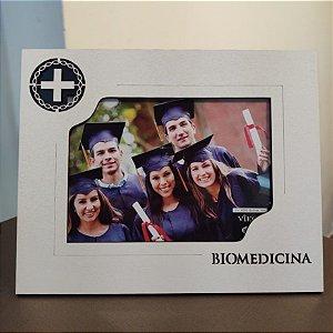 Porta retrato MDF Branco 15x21- Biomedicina