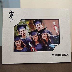 Porta retrato MDF Branco 15x21- Medicina
