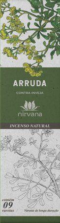 Incenso Natural 9 varetas Nirvana - Arruda