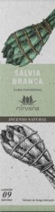 Incenso Natural 9 varetas Nirvana - Sálvia Branca
