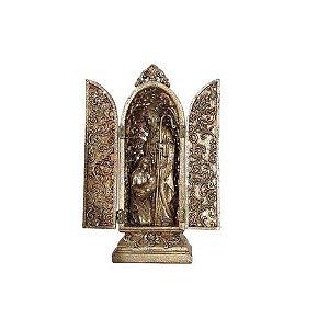 Capela Sagrada Família com glitter - Dourada