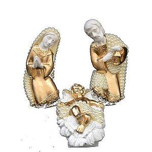 Sagrada Família de Pérolas com 3 peças 17cm