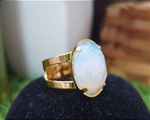Anel Ajustável dourado - Opalina