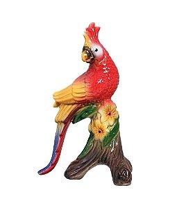 Escultura Calopsita - Vermelha