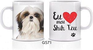Caneca Cerâmica - Eu amo meu Shih Tzu