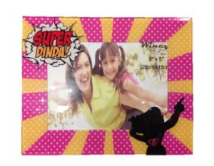 Porta Retrato de Vidro - Super Dinda 15x20cm