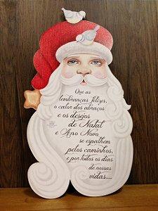 Quadro Shape Papai Noel em Madeira