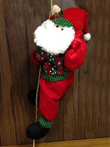 Papai Noel Subindo Na Corda - 85 cm