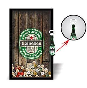 Porta Tampinha + Abridor Personalizado Heineken