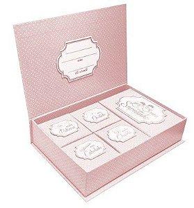 Caixa de Lembranças Meus Pequenos Tesouros - Rosa