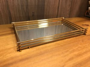 Bandeja Wire 15x25cm Dourada