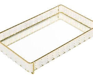 Bandeja Artesanalle 10x20cm - Golden Perola Renda