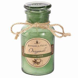 Vela em garrafa com tampa- Chá Verde