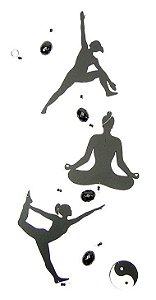 Fio de Luz Yoga Ying Yang- Preto