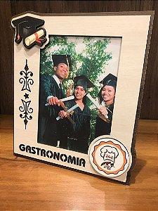 Porta Retrato MFD/Tecido - Gastronomia 15x21cm