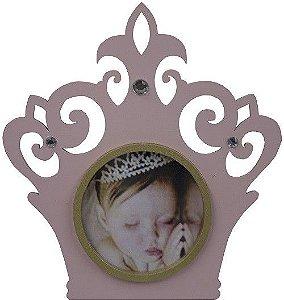 Porta Retrato Coroa 19,5x18- Rosa
