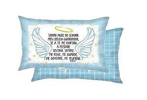 Almofada Santo Anjo 22x37- Azul
