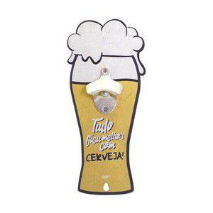 Quadro abridor de garrafa- Tudo fica melhor com cerveja