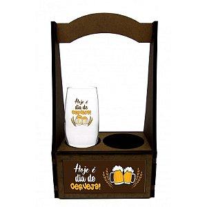 Caixa MDF + 1 taça Beer - Hoje é dia de Cerveja