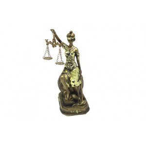 Dama da Justiça Resina 17cm