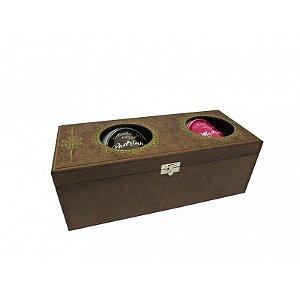 Kit canecas com caixa de madeira - Aceita ser Madrinha/padrinho ?