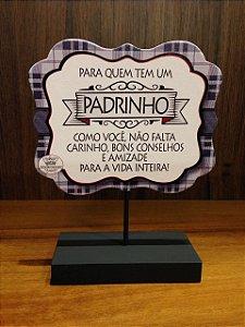 Madeirinha de Mesa xadrez- Para quem tem um PADRINHO...