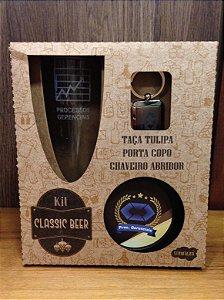 Kit classic beer Taça+ chaveiro/abridor de garrafa+ porta copos- PROCESSOS GERENCIAIS