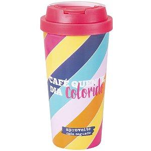 Copo Viagem- Café quente dia colorido