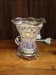 Luminária vidro Cromoterapia Fruta cor - 17cm