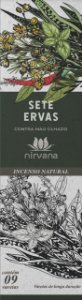 Incenso Natural 9 varetas Nirvana - 7 ervas