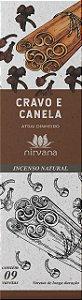 Incenso Natural 9 varetas Nirvana - Cravo e Canela