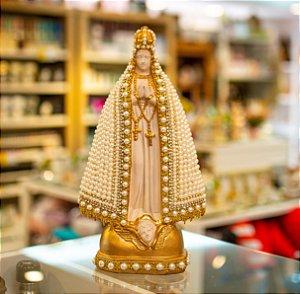 Nossa Senhora Aparecida Perolada- Dourada