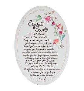 Placa Oval floral- Espiríto Santo