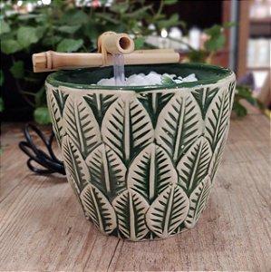 Fonte cerâmica Folhas