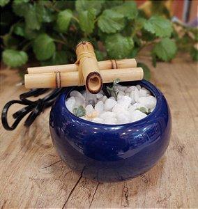 Fonte de cerâmica bojuda - Azul
