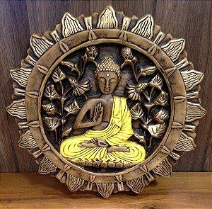 Mandala Buda Amarelo