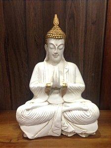 Buda Namastê Branco