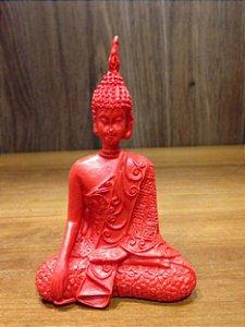 Buda Tibetano Sentado - Vermelho