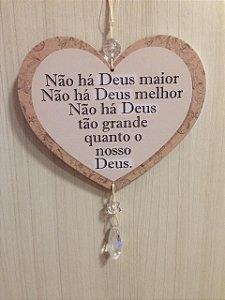 Móbile coração- Não há Deus maior...