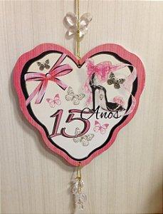 Mobile coração- 15 anos