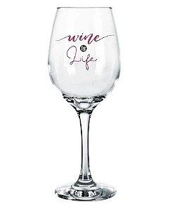 Taça Barone Vidro para Vinho - Mensagem Diversas