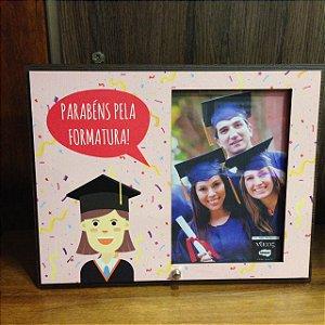 Porta Retrato Rosa 15x10- Parabéns pela Formatura!