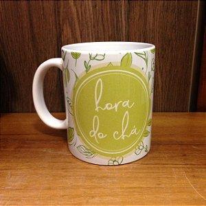 Caneca Cerâmica - Hora do Chá
