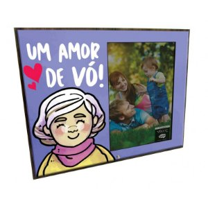 Porta Retrato MFD/Tecido - Um amor de Vó!
