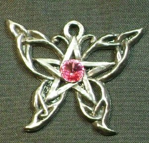 Pingente Pentagrama Swarovski - Borboleta