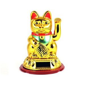 Gato Solar Manekineko 9cm